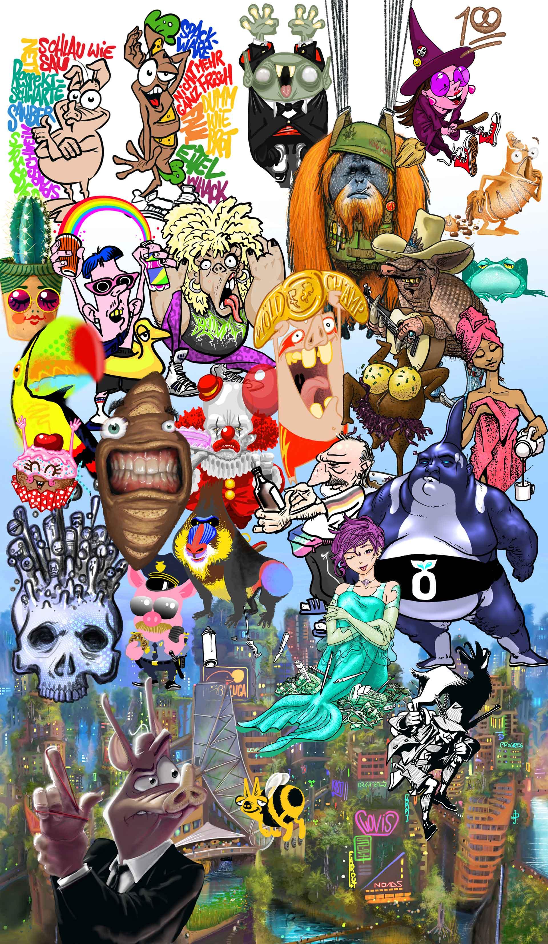 Comic Charakter - Comic Illustration - Werner Härtl