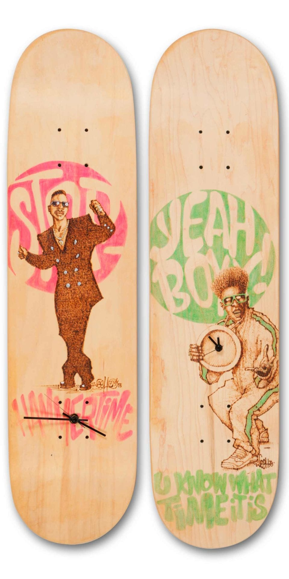 Golden Era Skateboardkunst - Brandmalerei - Werner Härtl